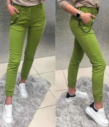модные узкие женские брюки, трикотажные женские брюки, женские брюки фисташкового цвета