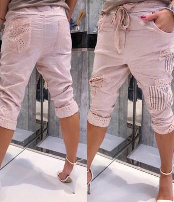 модные летние бриджи, бриджи из стрейч-коттона, бриджи больших размеров