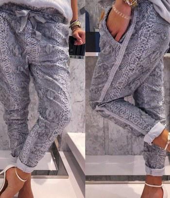 модные женские брюки , женские брюки бойфренды, женские брюки из хлопка, женские брюки с питоновым принтом