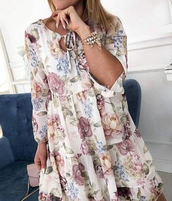 """Яркое летнее платье с цветочным принтом """"Beatrice"""""""
