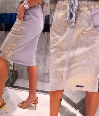 модные летние юбки, прямые юбки, юбка с лазерным напылением