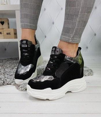 модные женские кроссовки, женские кроссовки сникерсы на высокой платформе, серебрянные кроссовки сникерсы