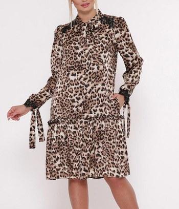"""Модное леопардовое платье больших размеров """"Shannon"""""""