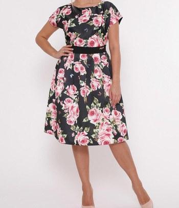 модные летние платья, яркие летние платья с цветочным принтом, летние платья с пышной юбкой, платье из натуральной ткани, большие платья