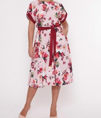 модные летние платья, яркие летние платья с цветочным принтом, летние платья с пышной юбкой, платье из софта, большие платья