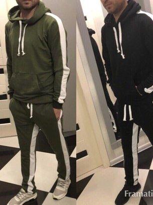 черный спортивный костюм, спортивный костюм цвета хаки