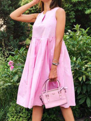модное коттоновое платье