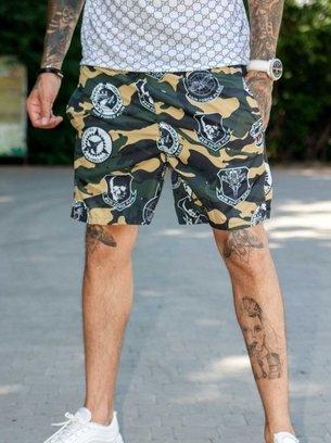шорты с камуфляжным принтом