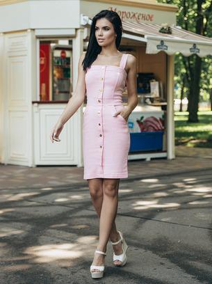 джинсовое голубое платье, джинсовое коралловое платье, джинсовое розовое платье