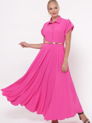 однотонные длинные платья
