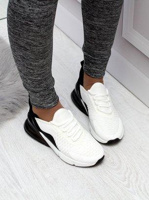 черно-белые текстильные кроссовки