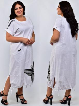 платье лен, белое льняное платье