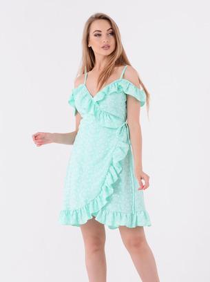 платье на запах, розовое платье на запах