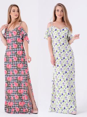 платье летнее длинное, модные платья из шифона