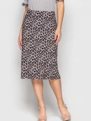 стильная коричневая юбка-миди, серая юбка-миди