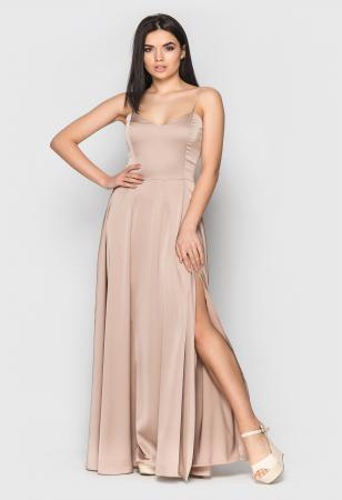 розовое вечернее платье, бежевое длинное платье
