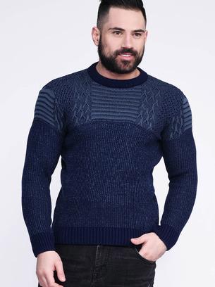 синий мужской свитер, бордовый мужской свитер