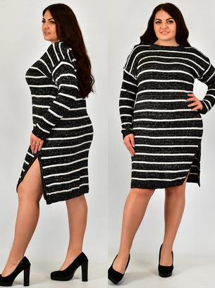 модные платья, трикотажные платья, модные платья больших размеров