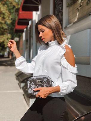 модные блузки с открытыми плечами