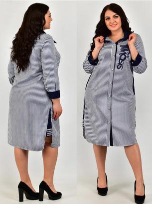 платье рубашка из ткани софт, модное платье рубашка, платье рубашка в полоску, платье рубашка больших размеров