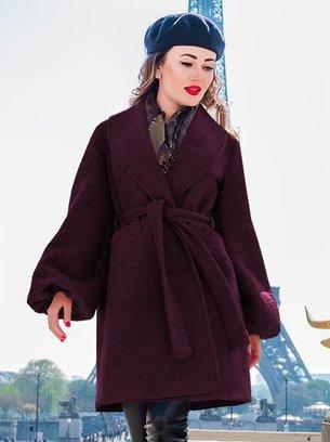 кашемировое пальто, пальто на запах