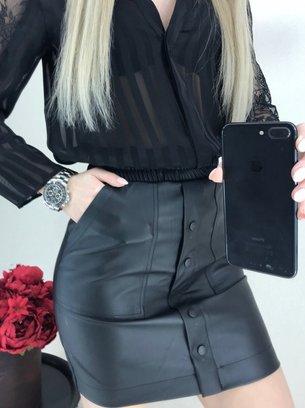 мини юбка, кожаная мини юбка