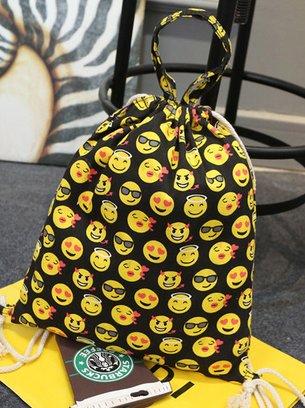 стильная сумочка, сумочка-рюкзак, рюкзаек со смайлами,