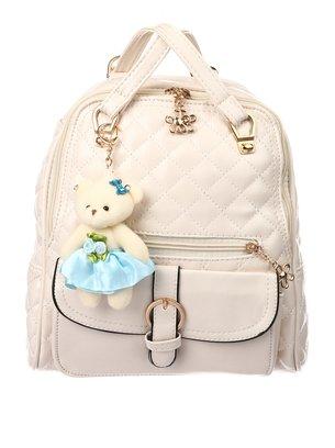 стильный рюкзак, городской рюкзак, белый рюкзакчек