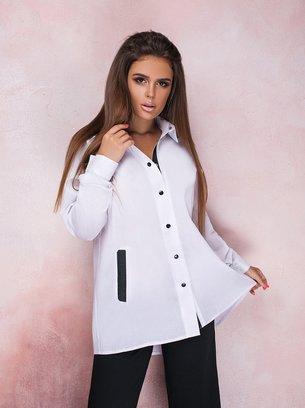 женская рубашка, белая женская рубашка, рубашка классика