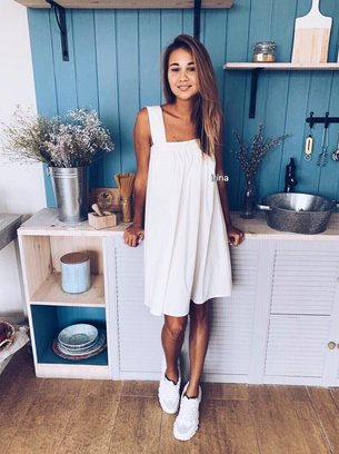 стильное мини платье, летнее платье