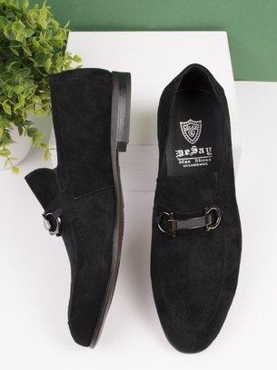 нубуковые мужские туфли, туфли-мокасины, черные туфли мужские, кожаные туфли, замшевые туфли