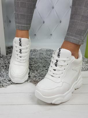 модные кроссовки на платформе, сникерсы белые
