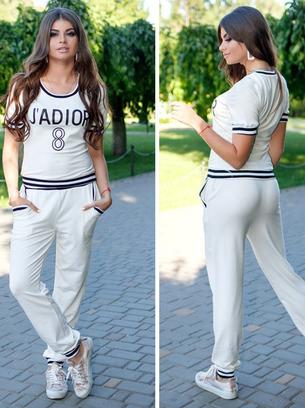 спортивный костюм жадор, белый спортивный костюм