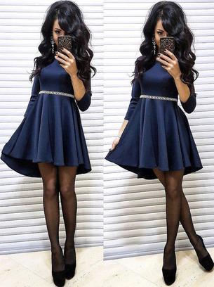 расклешенные платья, платья от груди