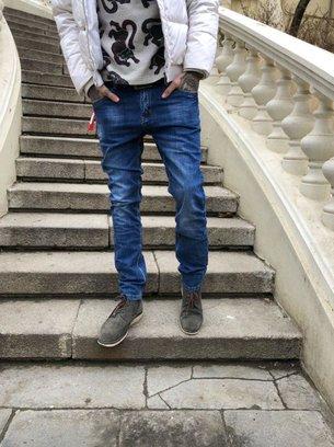 модные мужские джинсы, демисезонные джинсы