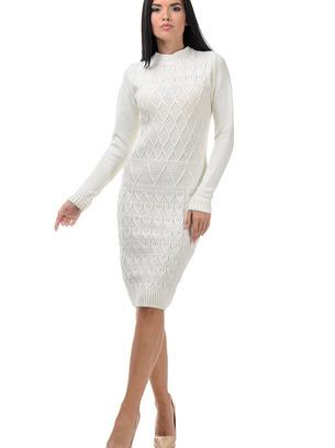 белое вязаное платье, черное вязаное платье