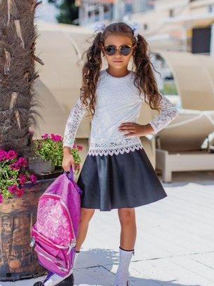 гепюровая блуза на девочку, молочная блуза