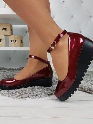 туфли на танкетке, туфли на высокой подошве