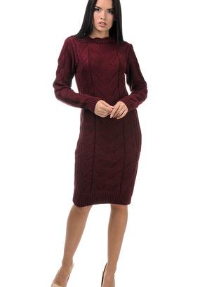 вязаное платье, теплое платье вязаное