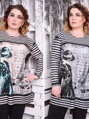 женские свитера, женские туники, большие размеры