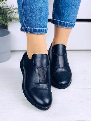 туфли лоферы, кожаные черные туфли