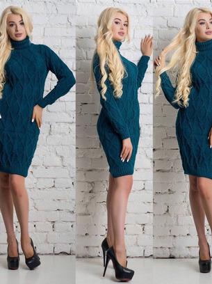 теплые платья, недорогие платья вязаные, зимние платья