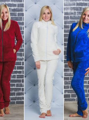 махровая пижама, молочная пижама, белая пижама, теплая пижама