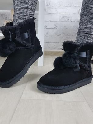 черные угги зимние