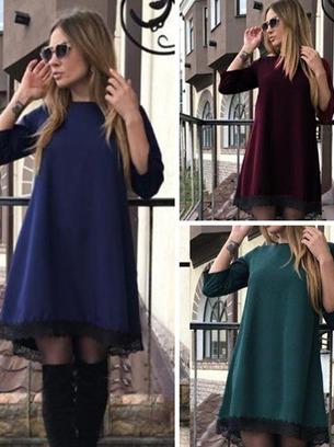 модные платья, платья трапеция
