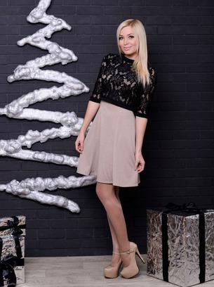 платье с гипюровым болеро, модное платье, нарядное платье