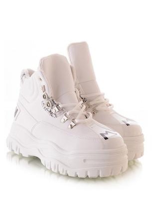 ботинки стильные, женские черные ботинки