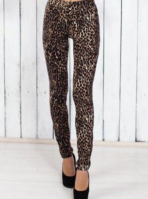 леопардовые лосины, стильные лосины