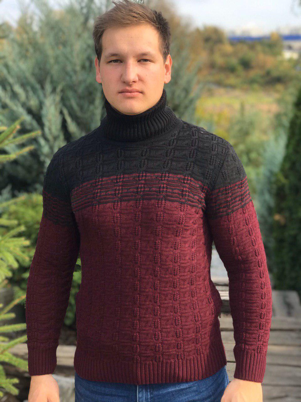 теплый мужской свитер зимний