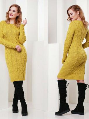 теплое вязаное платье лало